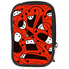 Playful abstract art - red Compact Camera Cases