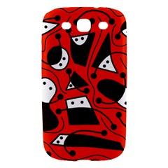 Playful abstract art - red Samsung Galaxy S III Hardshell Case