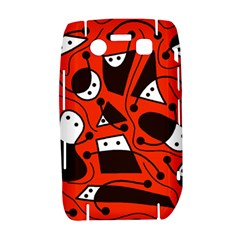 Playful abstract art - red Bold 9700