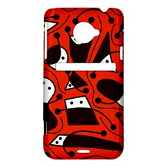Playful abstract art - red HTC Evo 4G LTE Hardshell Case