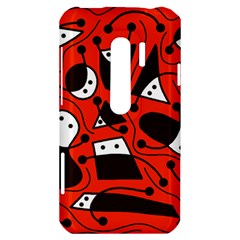 Playful abstract art - red HTC Evo 3D Hardshell Case