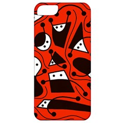 Playful abstract art - red Apple iPhone 5 Classic Hardshell Case