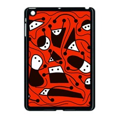 Playful abstract art - red Apple iPad Mini Case (Black)