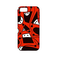 Playful abstract art - red Apple iPhone 5 Classic Hardshell Case (PC+Silicone)