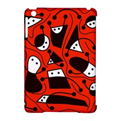 Playful abstract art - red Apple iPad Mini Hardshell Case (Compatible with Smart Cover)