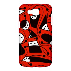 Playful abstract art - red Samsung Galaxy Premier I9260 Hardshell Case