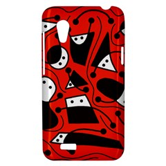 Playful abstract art - red HTC Desire VT (T328T) Hardshell Case