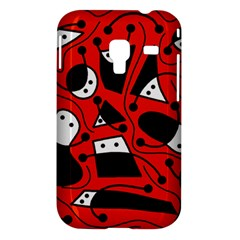 Playful abstract art - red Samsung Galaxy Ace Plus S7500 Hardshell Case