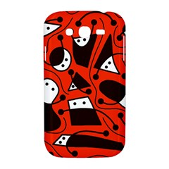 Playful abstract art - red Samsung Galaxy Grand DUOS I9082 Hardshell Case