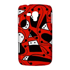 Playful abstract art - red Samsung Galaxy Duos I8262 Hardshell Case
