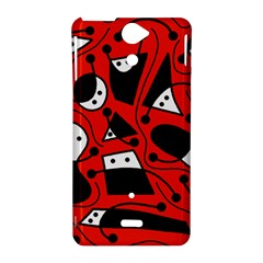 Playful abstract art - red Sony Xperia V