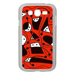 Playful abstract art - red Samsung Galaxy Grand DUOS I9082 Case (White)