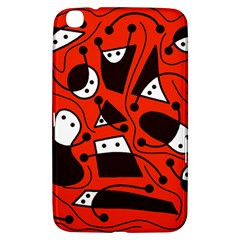 Playful abstract art - red Samsung Galaxy Tab 3 (8 ) T3100 Hardshell Case