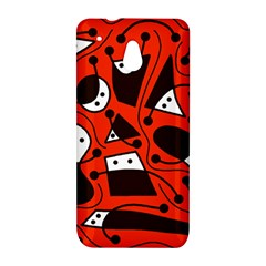 Playful abstract art - red HTC One Mini (601e) M4 Hardshell Case