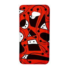 Playful abstract art - red HTC Butterfly S/HTC 9060 Hardshell Case