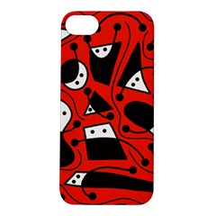 Playful abstract art - red Apple iPhone 5S/ SE Hardshell Case