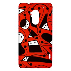 Playful abstract art - red HTC One Max (T6) Hardshell Case