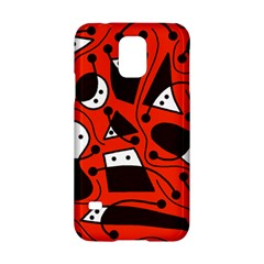 Playful abstract art - red Samsung Galaxy S5 Hardshell Case