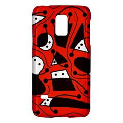 Playful abstract art - red Galaxy S5 Mini