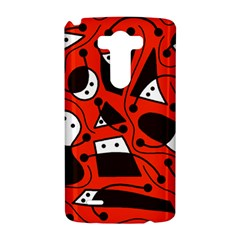 Playful abstract art - red LG G3 Hardshell Case