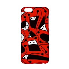 Playful abstract art - red Apple iPhone 6/6S Hardshell Case