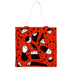 Playful abstract art - red Grocery Light Tote Bag