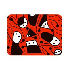Playful Abstract Art   Red Double Sided Flano Blanket (mini)