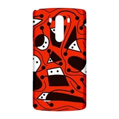Playful abstract art - red LG G3 Back Case