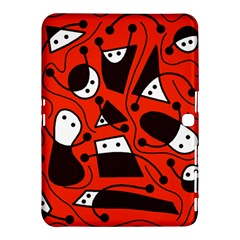 Playful abstract art - red Samsung Galaxy Tab 4 (10.1 ) Hardshell Case