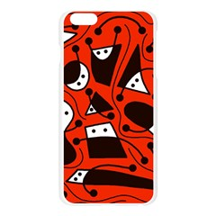 Playful abstract art - red Apple Seamless iPhone 6 Plus/6S Plus Case (Transparent)
