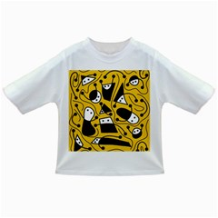 Playful abstract art - Yellow Infant/Toddler T-Shirts
