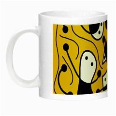 Playful abstract art - Yellow Night Luminous Mugs