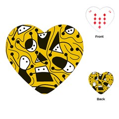 Playful abstract art - Yellow Playing Cards (Heart)