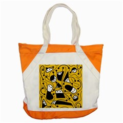 Playful abstract art - Yellow Accent Tote Bag