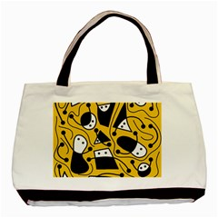 Playful abstract art - Yellow Basic Tote Bag (Two Sides)