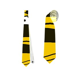 Playful abstract art - Yellow Neckties (Two Side)