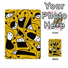 Playful abstract art - Yellow Multi-purpose Cards (Rectangle)