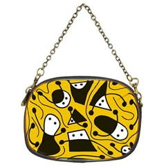 Playful abstract art - Yellow Chain Purses (Two Sides)