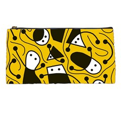 Playful abstract art - Yellow Pencil Cases