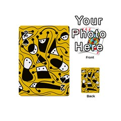 Playful abstract art - Yellow Playing Cards 54 (Mini)