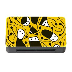 Playful abstract art - Yellow Memory Card Reader with CF