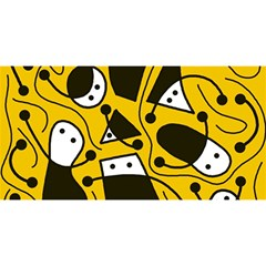 Playful abstract art - Yellow YOU ARE INVITED 3D Greeting Card (8x4)