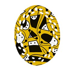 Playful abstract art - Yellow Ornament (Oval Filigree)