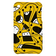Playful abstract art - Yellow Apple iPhone 3G/3GS Hardshell Case