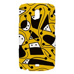 Playful abstract art - Yellow Samsung Galaxy Nexus i9250 Hardshell Case