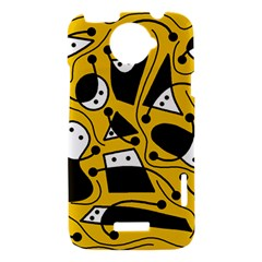 Playful abstract art - Yellow HTC One X Hardshell Case