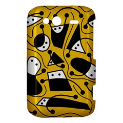 Playful abstract art - Yellow HTC Wildfire S A510e Hardshell Case