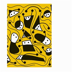 Playful abstract art - Yellow Large Garden Flag (Two Sides)