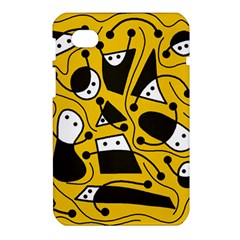 Playful abstract art - Yellow Samsung Galaxy Tab 7  P1000 Hardshell Case