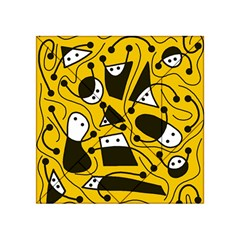 Playful abstract art - Yellow Acrylic Tangram Puzzle (4  x 4 )